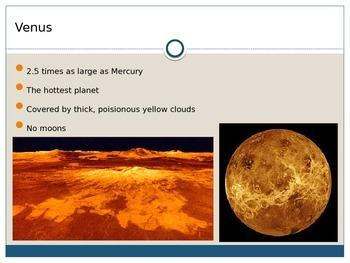 Planet Characteristics and Phases of the Moon PPT