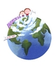 Planet Clipart for Space Vocabulary or Spelling Game!