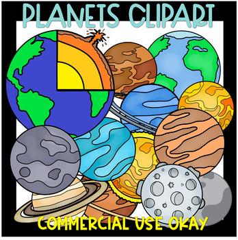 Planet Clipart set