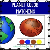 Planet Color Matching Cards for Preschool, Prek, and Kindergarten