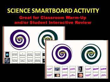 Planet Vocabulary / Characteristics (Smartboard 10 Slides)