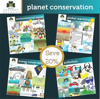 Planet Conservation Clip Art Bundle