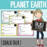 Planet Earth Chalk Talk Task Cards