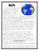 Planet Earth Close Reading Passage for Earth Day or Any Day - FREEBIE