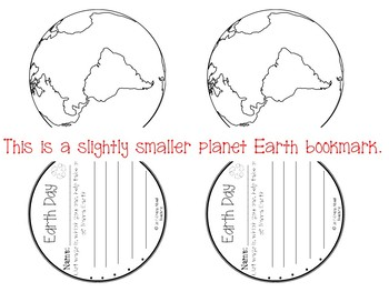Planet Earth-Earth Day Bookmarks