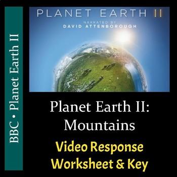 Planet Earth 2 - Episode 2: Mountains - Video Worksheet & Key (Editable)