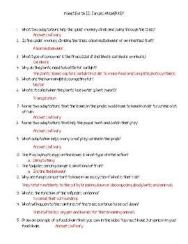Planet Earth II Jungles Questions