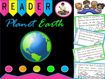 Planet Earth  Reader Earth Day Science Emergent Reader