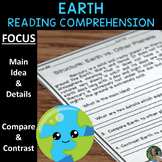 Earth Reading Comprehension Passages - Main Idea