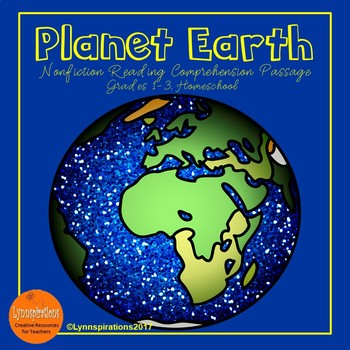Planet Earth Reading Comprehension Activity