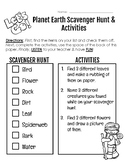 Planet Earth Scavenger Hunt & Activities