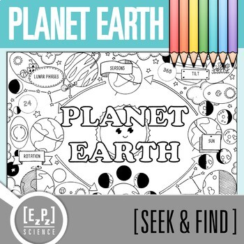 Planet Earth Seek and Find Science Doodle Page