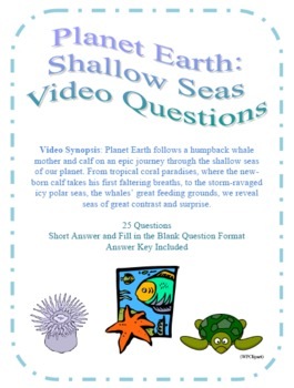 Worksheets Planet Earth Shallow Seas Worksheet planet earth shallow seas video questions by amy kirkwood questions