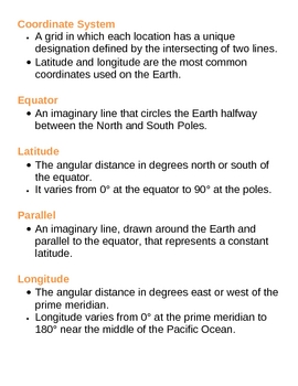 Planet Earth Unit Vocabulary Lesson Plan