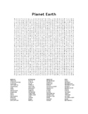 Planet Earth Word Search
