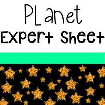 Planet Expert Sheet