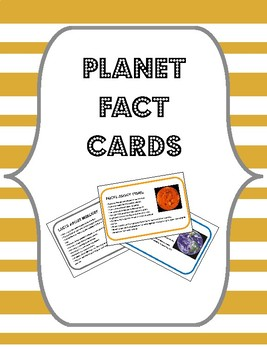 Planet Facts Cards