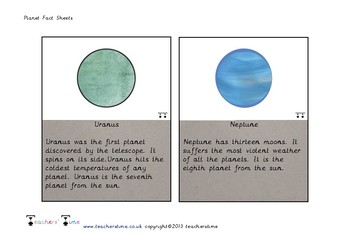 Planet Fact Cards