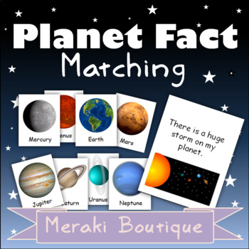 Planet Fact Matching Cards
