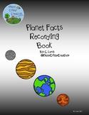 Planet Fact Recording Book