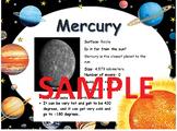 Planet Fact Sheet