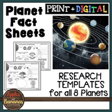 Planet Fact Sheets Research Templates