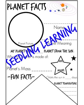 Planet Facts Banner / Pennant