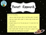 Planet Facts Research Activity