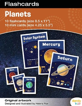 picture relating to Printable Planets called Entire world Flashcards / Mounted of 10 / Printable