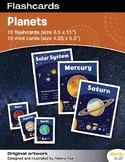 Planet Flashcards / Set of 10 / Printable