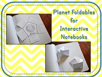 Planet Foldables for Interactive Notebooks