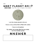 Planet Guessing Game Worksheet