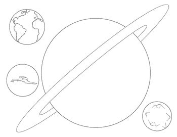 Planet Guessing Game and Coloring Pages