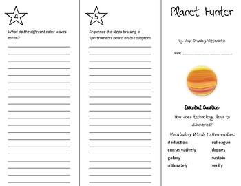 Planet Hunter Trifold - Wonders 6th Grade Unit 5 Week 4