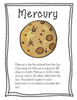 Planet Info Sheets