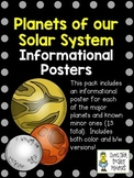 Planet Information Posters Pack ~ Set of 13 Informational Posters (Color & B/W)