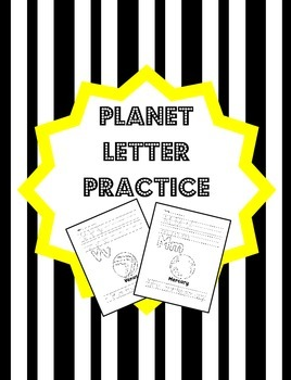 Planet Letter Formation Practice