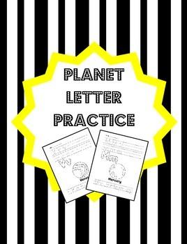 Planet Letter Formation Practice