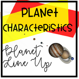 Planet Line Up card activity