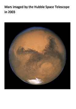 Planet Mars Word Search