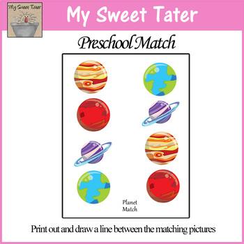 Planet Match Sheet