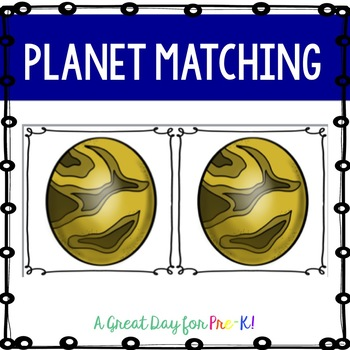 Planet Matching for Preschool, Prek, and Kindergarten