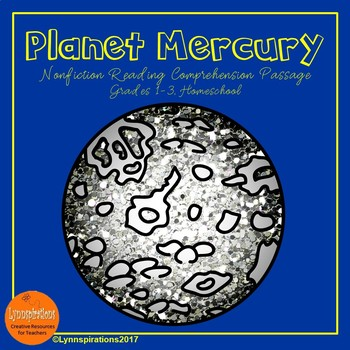Planet Mercury Reading Comprehension Activity