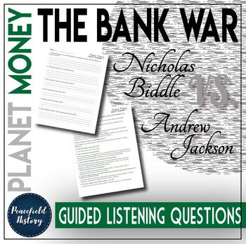 bank war andrew jackson. Beautiful Andrew Planet Money Bank War Andrew Jackson Nicholas Biddle Guided Listening  Questions Inside