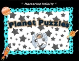 Planet Name & Size Puzzles (color)