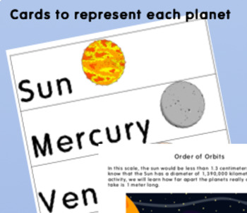 Planet Order Activity (distance from the Sun)