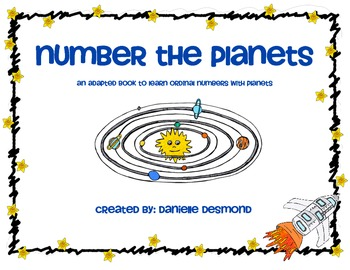 Planet Ordinal Numbers Adapted Book for Special Education