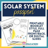 Planet Passport : Solar System Notes