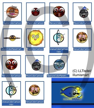 Planet Personalities- 12 Piece Color Clip-Art!