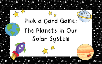 Planet Pick a Card Game